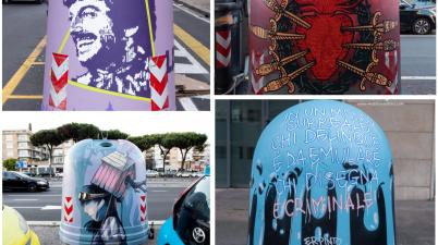 Gau - Gallerie Urbane, a Roma 75 campane del vetro diventano opere d'arte