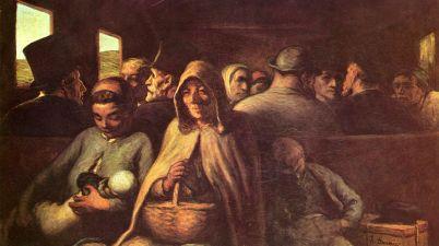 Il dipinto del 1862: Il vagone di terza classe di Honoré Daumier