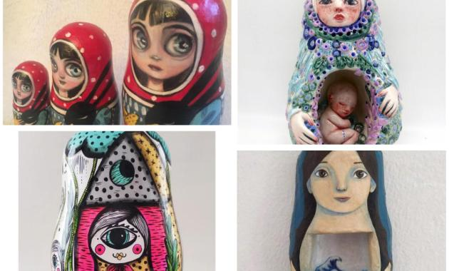 Matrioske, venti artisti reinterpretano la celebre bambola di legno