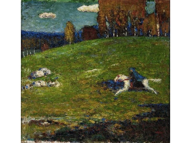 Il dipinto del 1903 - Il cavaliere azzurro di Vasilij Kandinskij