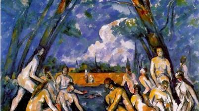 Le grandi bagnanti di Paul Cezanne