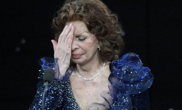 Sophia Loren ai David di Donatello