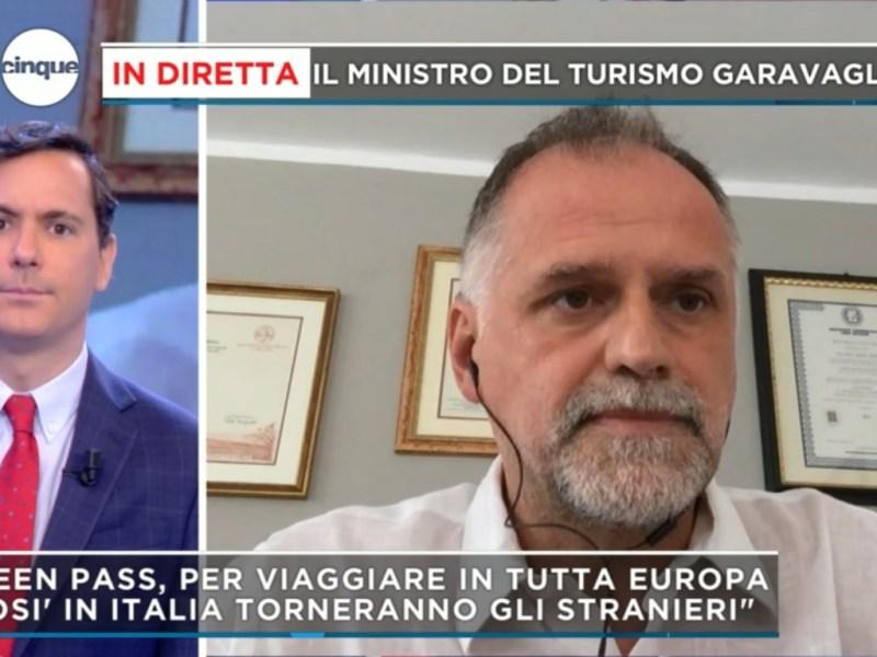 Ministro Massimo Garavaglia a Pomeriggio Cinque