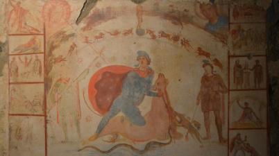 Il Mitreo Barberini e la volta celeste con i segni zodiacali