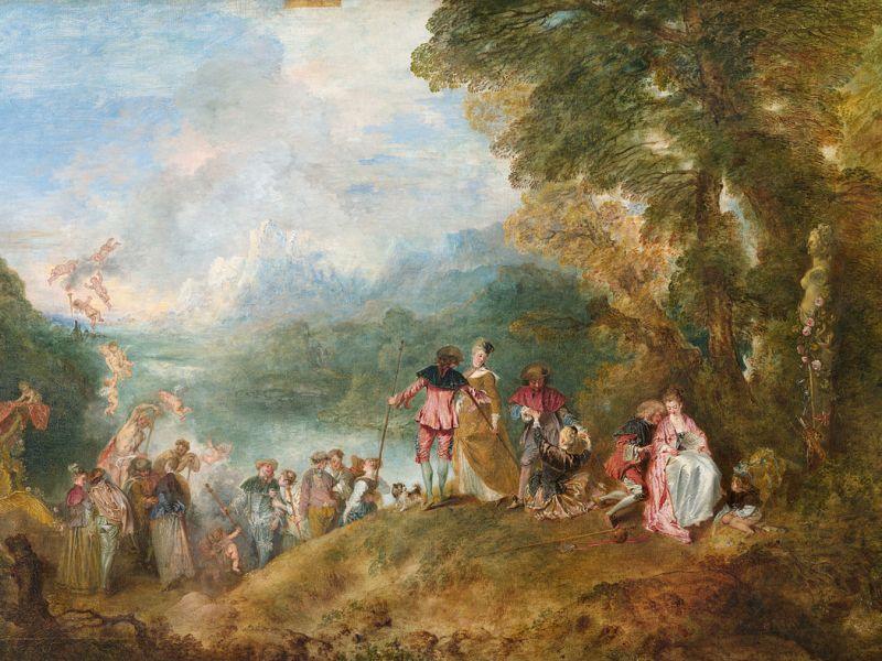 Il dipinto del 1717 - Pellegrinaggio a Citera di Antoine Watteau