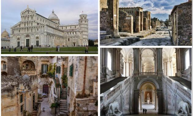I dieci siti Unesco italiani più popolari di sempre