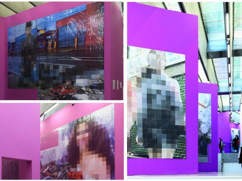 La Purple Line di Thomas Hirschhorn in mostra al MAXXI, tra pixel e collage