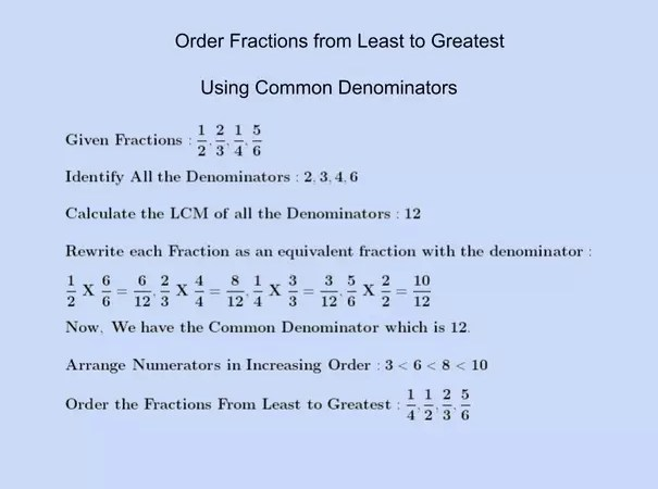 How to Order Fractions From Least to Greatest