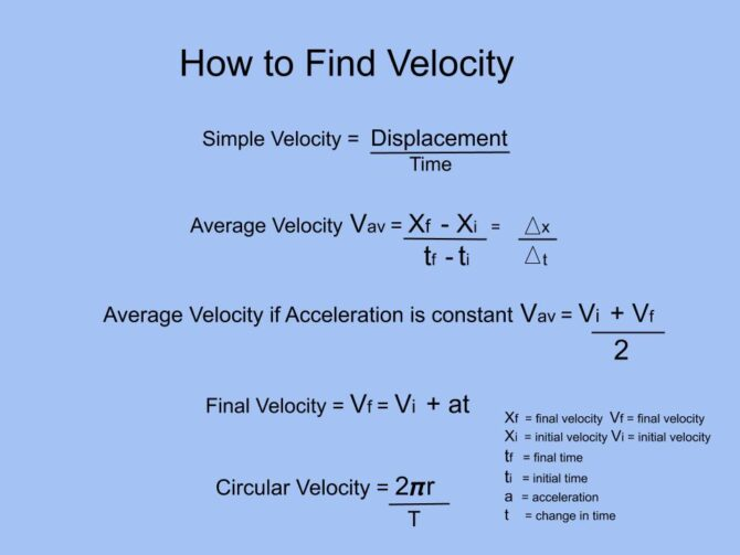 How to Find Velocity