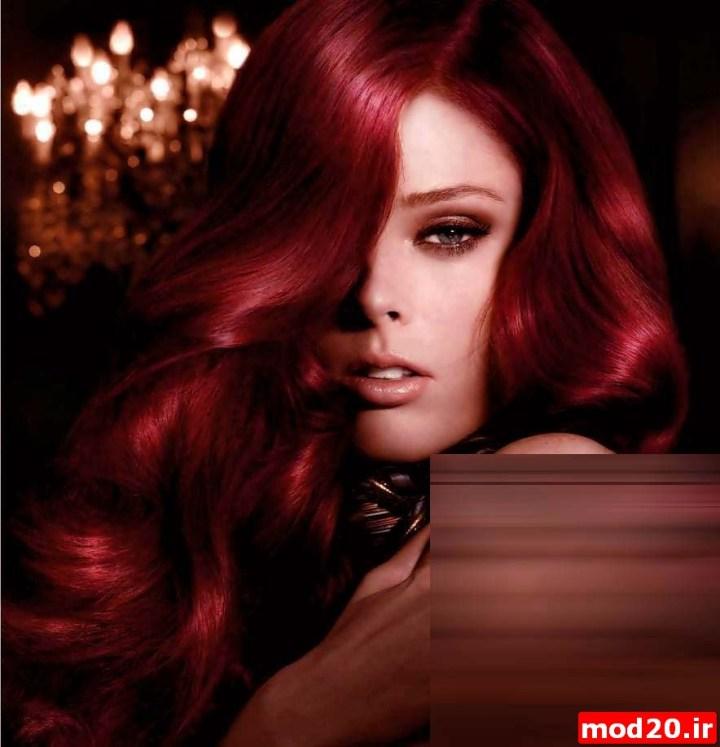 عکس رنگ مو قرمز