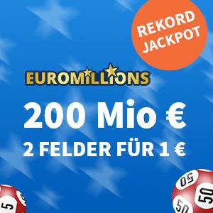 Rekord-Jackpot bei EuroMillions