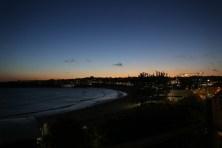 Sunset em Bondi Beach, Sydney, da varanda do apê que alugamos pelo AirBnb