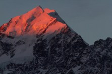 Sunset no Mount Cook