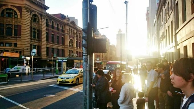 Flinders Street em Melbourne