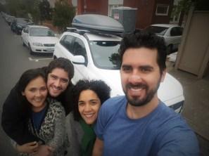 De partida pra Sydney, despedindo da Aline e do Pedro que nos hospedaram por algumas noites antes da nossa vinda.