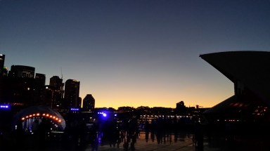 Foi muito lindo o pôr-do-sol no Opera House, totalmente mágico!