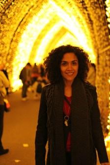 Na Vivid, show de luzes, música e idéias que acontece anualmente em Sydney.