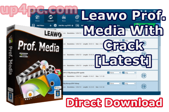Leawo Prof. Media 8.2.1.0 With Crack [Latest]