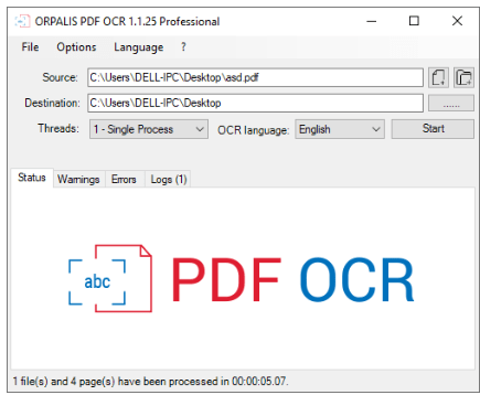 ORPALIS PDF OCR Pro 1.1.25 With Crack
