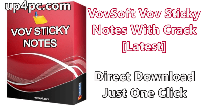 VovSoft Vov Sticky Notes Crack [Latest]