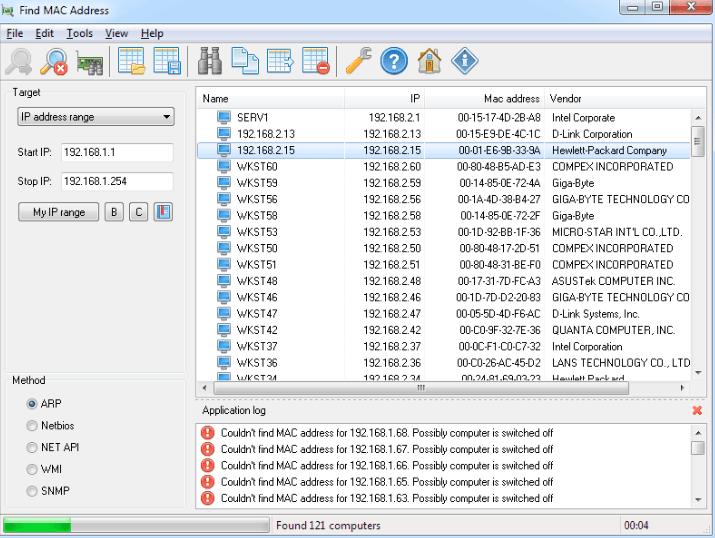 LizardSystems Find MAC Address 6.9.1 Build 249