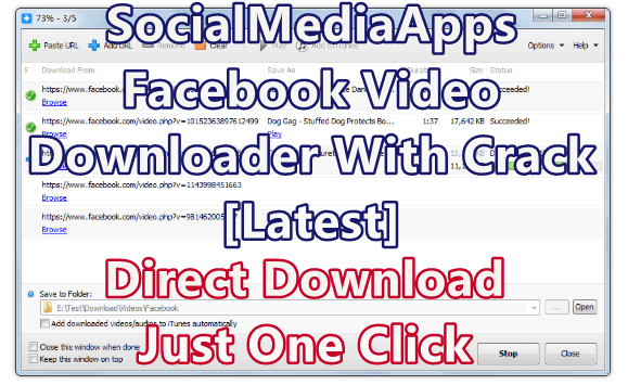 SocialMediaApps Facebook Video Downloader 3.29.6 With Crack [Latest]