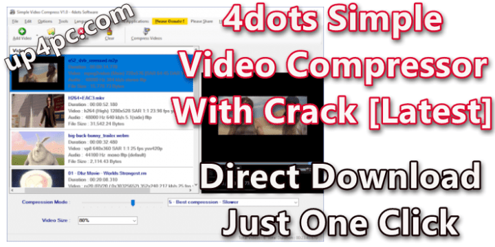 4dots Simple Video Compressor V3.5 With Crack [Latest]