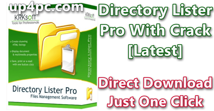 Directory Lister Pro 2.38 With Crack [Latest]