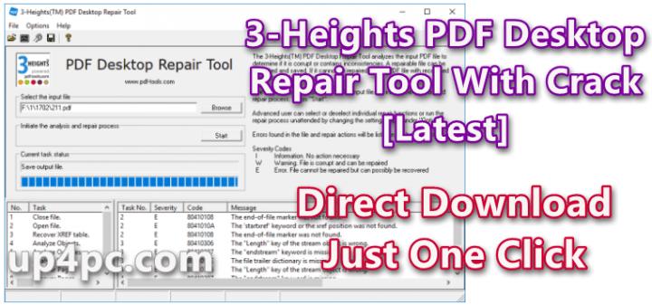 3-Heights PDF Desktop Repair Tool 6.5.0.7 With Crack [Latest]