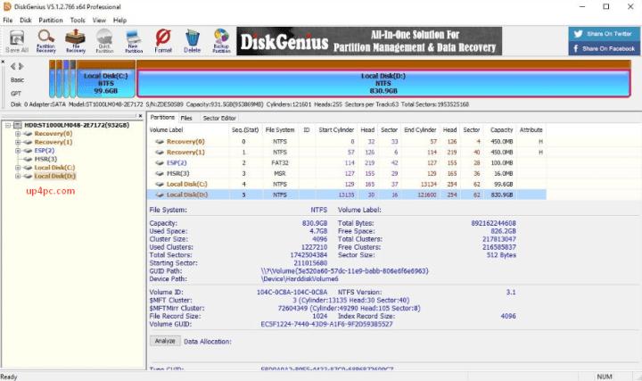 DiskGenius Professional 5.2.1.941 Crack
