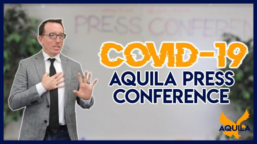 COVID-19 Aquila Press Conference with Executive Director David Porter | Breaking News