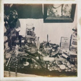 Altar with prayers to Marie Laveau.