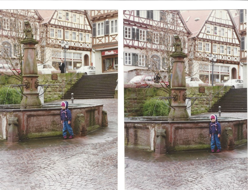 Gabrielle at the Black Forest Fountain
