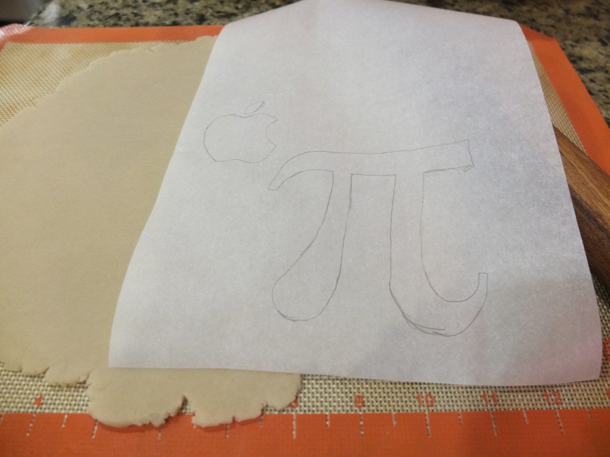 Apple Pi stencil for Apple Pie