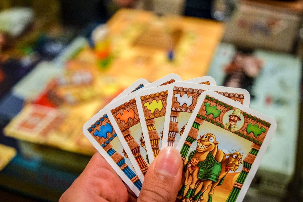 Character cards from Camel Up