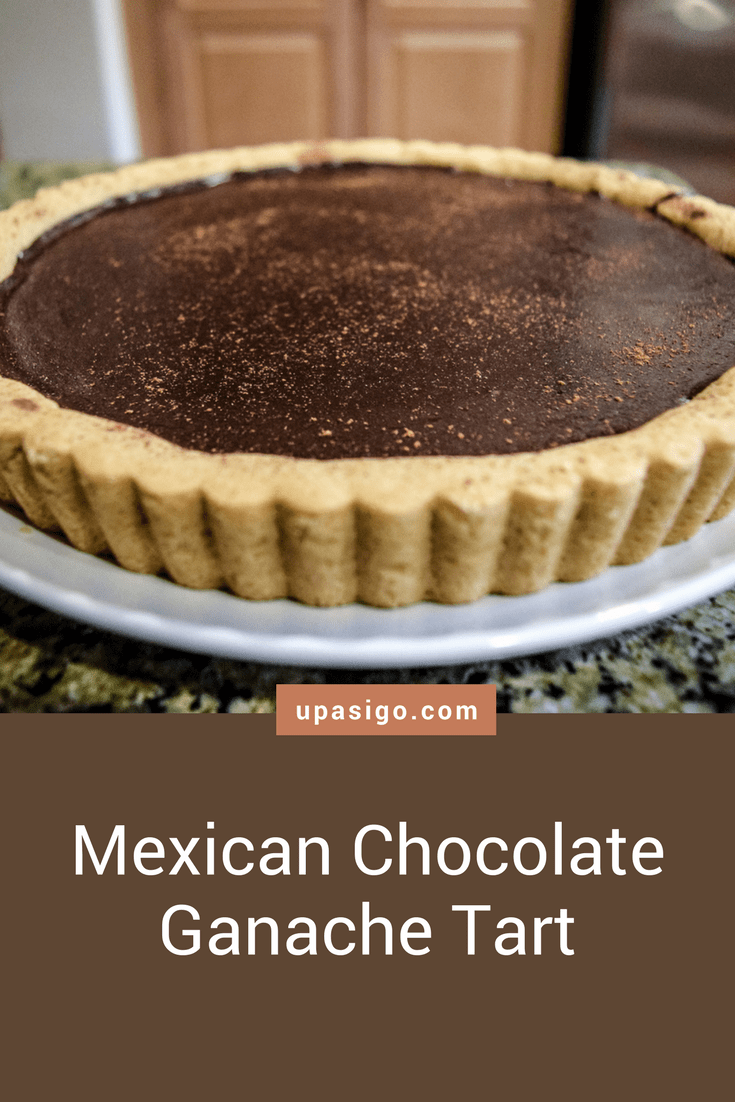 Spicy Mexican Hot-Chocolate Ganache Tart with Shortbread Cookie Crust