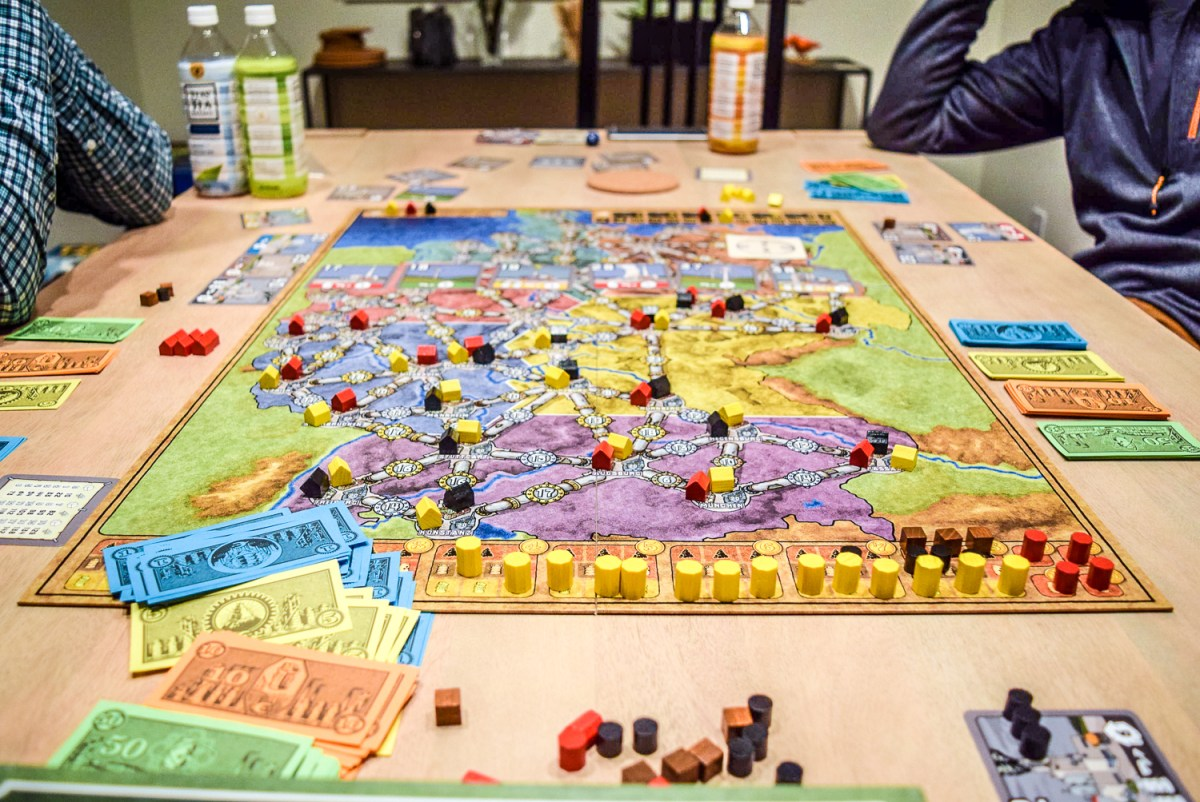 Power Grid Board Game from front