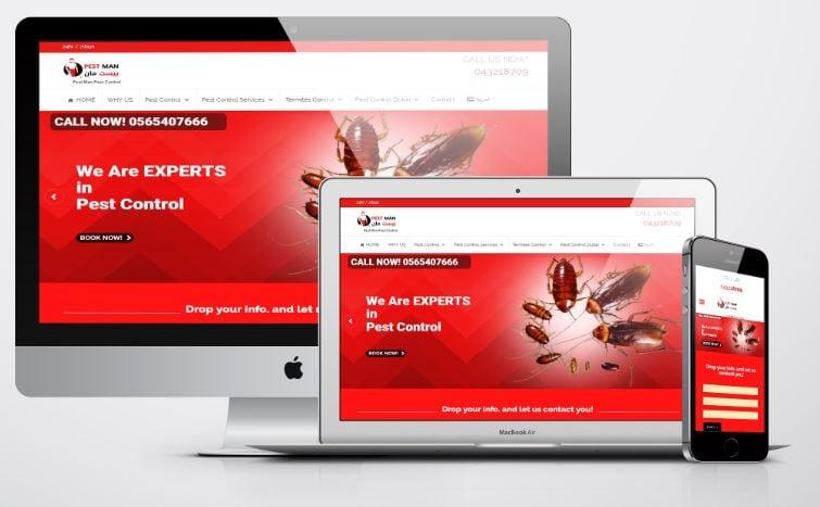 website design pest control company