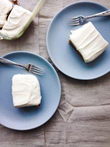 vegan banana spice cake
