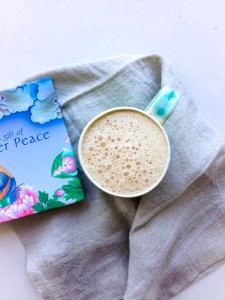 vegan salted caramel latte