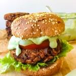 Smoky BBQ Black Bean Burgers with Green Goddess Ranch