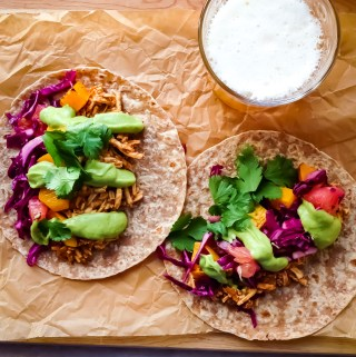BBQ pulled tofu tacos