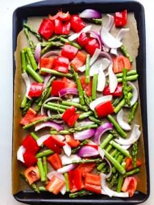roasted spring vegetables