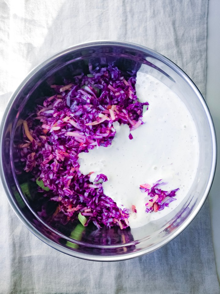 creamy cabbage slaw