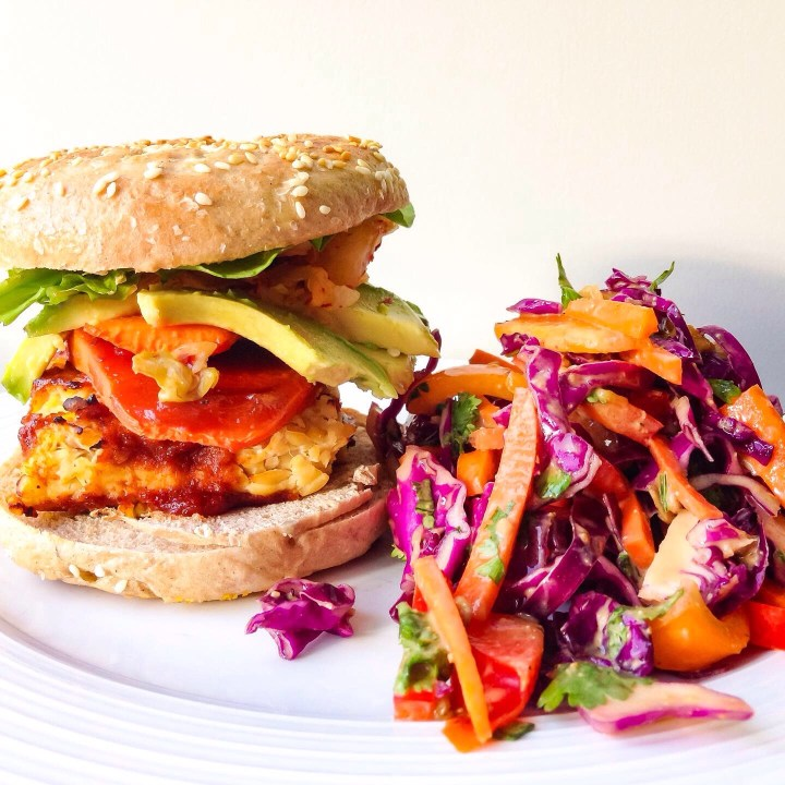 vegan barbecue tempeh sandwiches