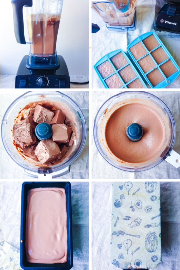 Steps to make homemade vegan ice cream (no churn)