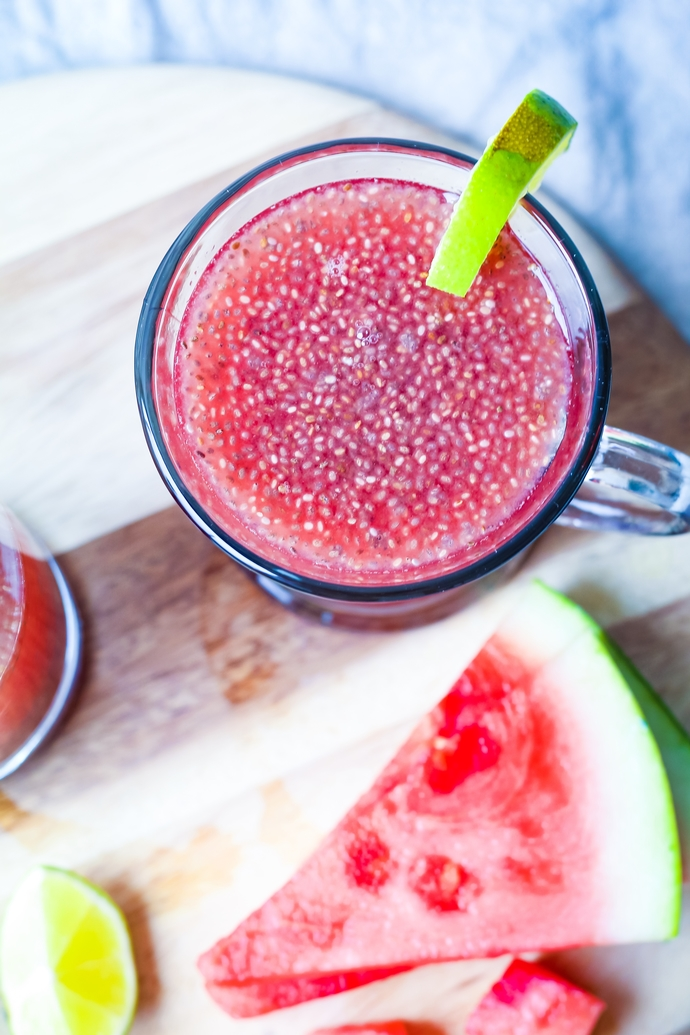 Watermelon Lime Chia Fresca: The perfect hydrating sports drink from nature