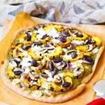 Fall Harvest Pizza with Squash and Pesto