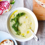 Roasted Cauliflower, Fennel, and Apple Soup