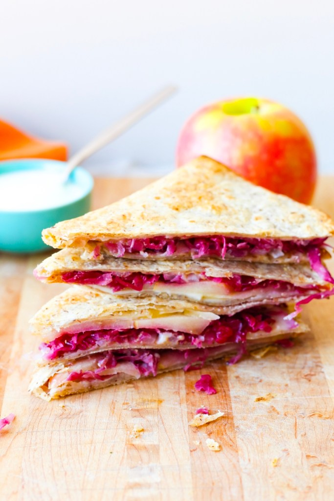 Apple Cheddar Breakfast Quesadillas